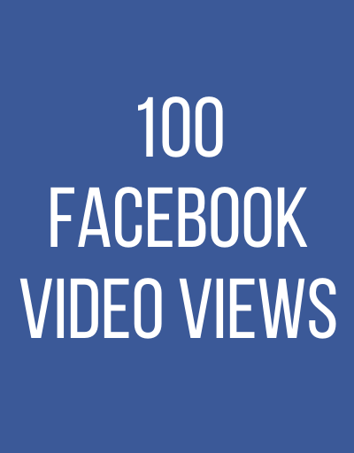 100 FaceBook Video Views