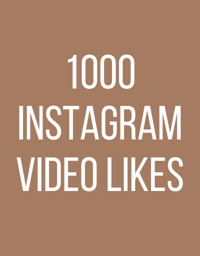 1000 InstaGram Video Likes